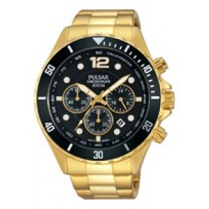 Cinturino per orologio Pulsar PT3720X1 Acciaio Placcato oro 22mm