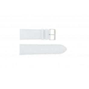 Cinturino per orologio Universale 306.09 Pelle Bianco 26mm