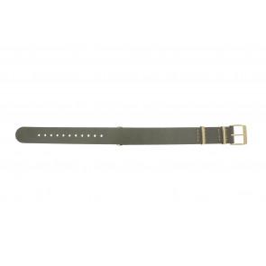 Timex cinturino dell'orologio PW2P98500 Pelle Taupe 18mm + cuciture beige