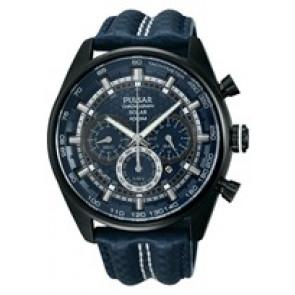 Cinturino per orologio Pulsar VS75-X004 / PX5043X1 Pelle Blu 24mm