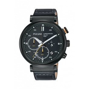 Cinturino per orologio Pulsar PZ5071X1 Pelle Nero 22mm