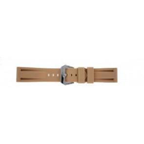 Cinturino orologio in silicone stile Panerai, beige, 24mm