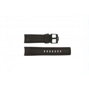 Rip Curl cinturino dell'orologio DBR24DBR Pelle Marrone scuro 24mm + cuciture marrone
