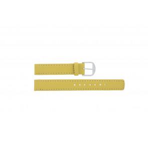 Q&Q cinturino dell'orologio QQ14LDYGS Pelle Giallo 14mm + cuciture bianco