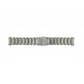 Cinturino dell'orologio QQ22STROU Metallo Argento 22mm