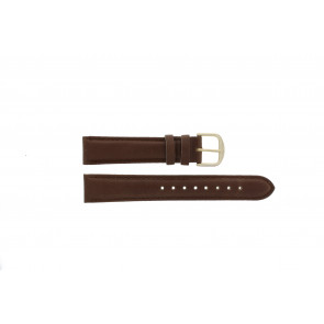 Q&Q cinturino dell'orologio QQ18LDBG-GD Pelle Marrone 18mm + cuciture marrone