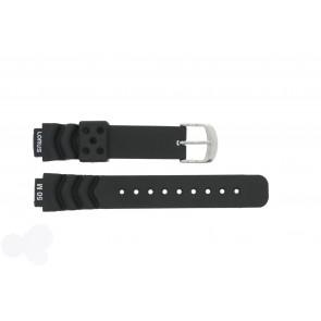 Lorus cinturino dell'orologio R2365AX-9 Gomma Nero 14mm