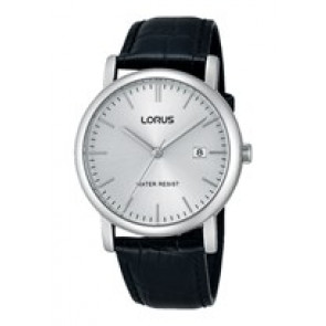 Lorus cinturino dell'orologio RG839CX9 / VJ32 X246 / RHG008X Pelle Nero 20mm + cuciture nero