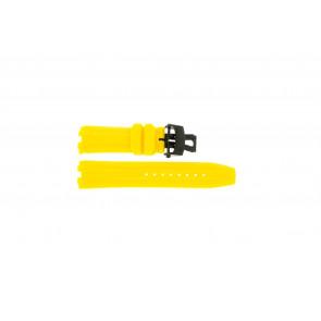 Cinturino per orologio Roamer 750837493507 Silicone Giallo 24mm
