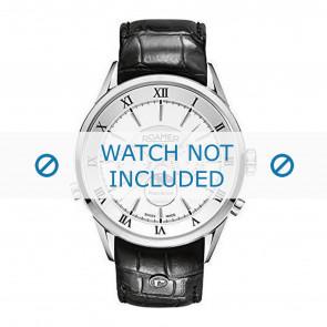 Cinturino per orologio Roamer 508821-41-13-05 Pelle Nero 22mm