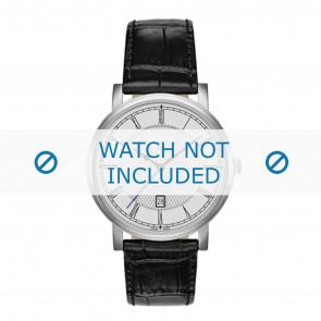 Roamer cinturino dell'orologio 709856-41-12-07 Pelle Nero 20mm + cuciture di default