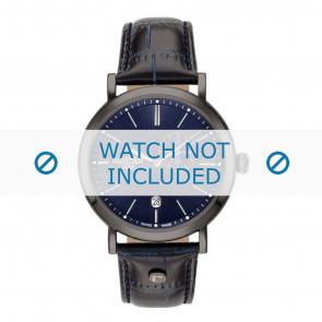 Roamer cinturino dell'orologio 936950-40-45-09 Pelle Blu 22mm + cuciture di default