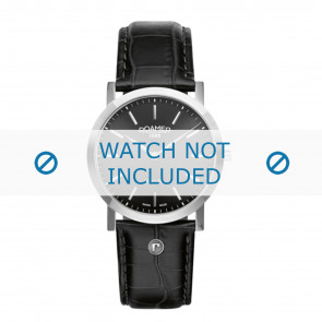 Roamer cinturino dell'orologio 937830-41-50-09 Pelle Nero 22mm + cuciture di default