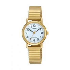 Lorus cinturino dell'orologio RRS78VX9 / V501 X471 / RHN147X Metallo Placcato oro 13mm