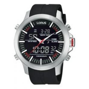 Cinturino per orologio Lorus Z021-X002-RW607AX9 Gomma Nero 21mm