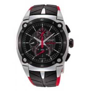 Cinturino per orologio Seiko 7T82-0AF0 / SPC009P1 Gomma Nero