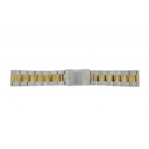 Cinturino per orologio WoW 1014-18-BI Acciaio Bi-colore 18mm
