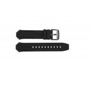 Cinturino per orologio Tissot T1114173744103A / T1114173744107A / T603042129 Silicone Nero 18mm