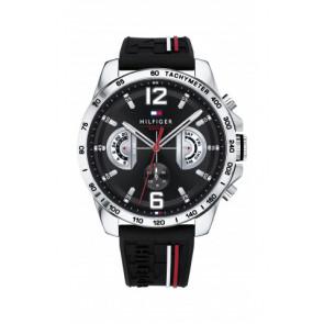 Cinturino per orologio Tommy Hilfiger TH-320-1-14-2380 Gomma Nero
