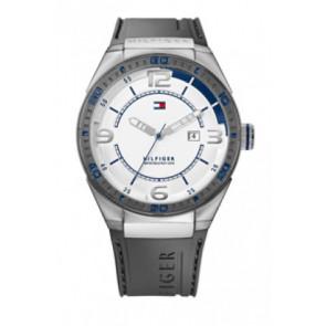 Cinturino per orologio Tommy Hilfiger TH12512909 / TH675010692 Gomma Grigio 21mm
