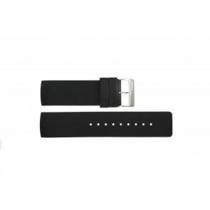 Cinturino per orologio Obaku V118L Gomma Nero 24mm
