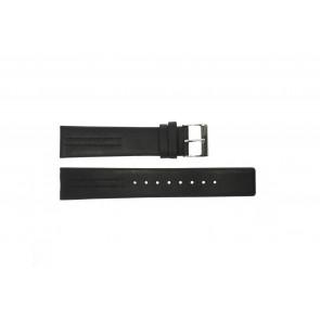 Cinturino per orologio Obaku V122 Pelle Nero 20mm