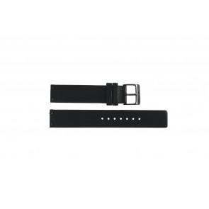 Cinturino per orologio Obaku V139L Pelle Nero 16mm