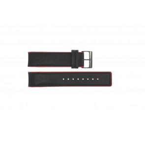 Cinturino per orologio Obaku V141 Pelle Nero 22mm