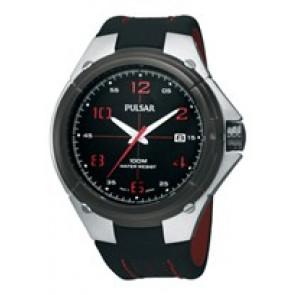Cinturino per orologio Pulsar VX42-X283-PXH797X1 Pelle Nero