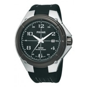 Cinturino per orologio Pulsar VX42-X283-PXH799X1 Pelle Nero