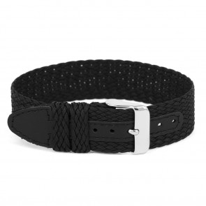 Cinturino per orologio Universale WC26 Nylon/perlon Nero 12mm