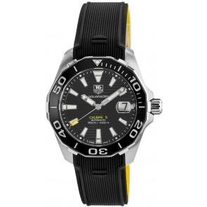 Cinturino per orologio Tag Heuer WAY211A / FT6068 Gomma Nero 21mm