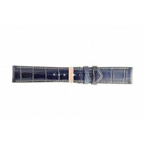 Cinturino per orologio Universale 61324-50-32 Pelle Blu 30mm