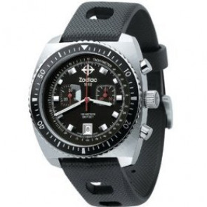 Zodiac cinturino dell'orologio ZO2240 Gomma Nero