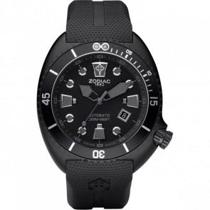 Cinturino per orologio Zodiac ZO8010 Gomma Nero 24mm