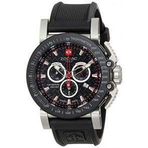 Cinturino per orologio Zodiac ZO8503 Gomma Nero 24mm