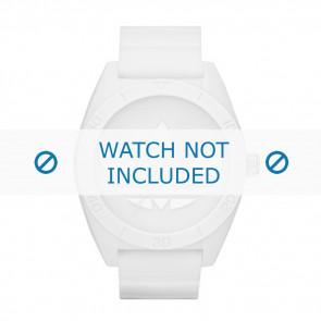 Adidas cinturino dell'orologio ADH2711 Gomma Bianco 24mm