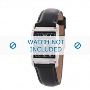 Cinturino per orologio Armani AR0207 / AR0101 / AR0121 / AR5601 / AR0604 Pelle Nero 18mm