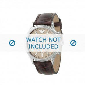 Armani cinturino dell'orologio AR0562 Pelle Marrone 21mm + cuciture marrone