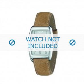 Armani cinturino orologio AR-0901 Pelle Marrone chiaro 19mm