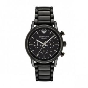 Cinturino per orologio Armani AR1507 Ceramica Nero