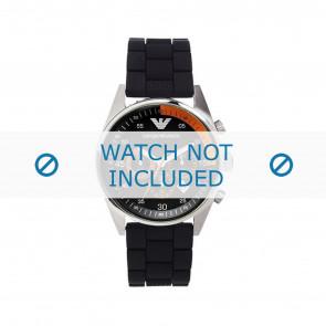 Armani cinturino dell'orologio AR5878 Silicone Nero 24mm