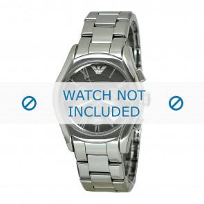 Armani cinturino dell'orologio AR1465 Ceramica Grigio 22mm