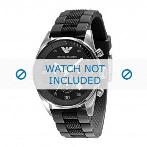 Armani cinturino dell'orologio AR5866 Silicone Nero 23mm