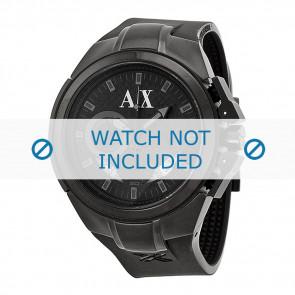 Armani cinturino orologio AX-1050 Silicone Nero 14mm