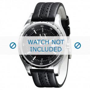 Cinturino per orologio Armani AX1055 Pelle Nero 22mm