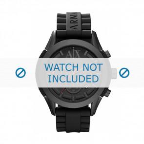 Armani cinturino orologio AX-1212 Silicone Nero 22mm