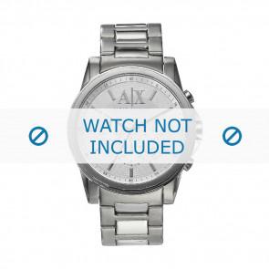 Armani cinturino orologio AX-2058 Acciaio Argento 22mm