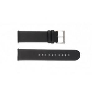 Mondaine cinturino dell'orologio BM20063 / FE16822.20Q Pelle Nero 22mm