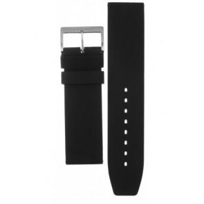 Mondaine cinturino dell'orologio BM20068 / FP9624.20Q.1 RUBB. Gomma Nero 24mm
